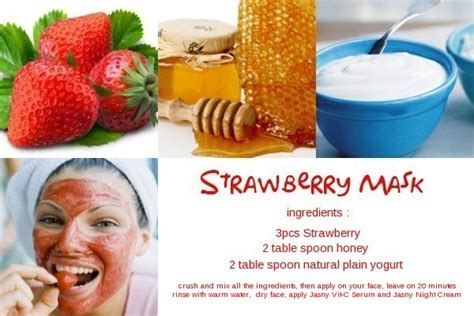 Masker Images Strawberry Fruit Mask Masker Buah Images jasnyonline brightening cosmetics indonesia