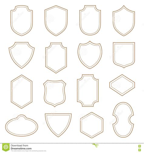 Vintage Label Badge Shield Design Heraldic Classic Shape Stock Illustration Illustration Of Badge Design Template
