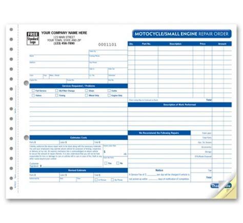 Small Motorcycle Repair Order Forms Aut6510 At Print Ez Motorcycle Repair Estimate Template