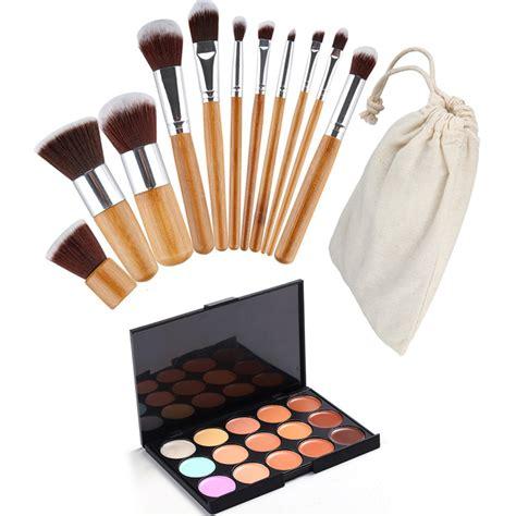 1 Set Perhiasan Xuping 11 makeup set 15 colors makeup concealer palette 11pcs powder brush cosmetic set