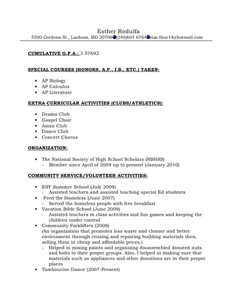 College Letter Of Recommendation Resume Resume Format For Recommendations