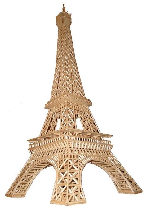 How To Make A Tower With One Of Paper - build your own eiffel tower from matchsticks wooden