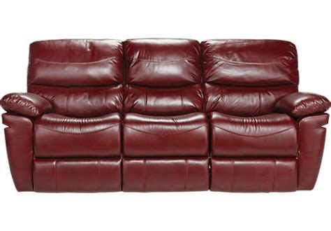 Red Sofa Recliner by La Verona Red Leather Reclining Sofa Reclining Sofas Red
