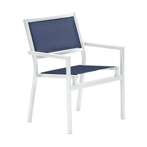 Aluminum Dining Chair Cabana Club Sling Dining Chair With Aluminum Frame