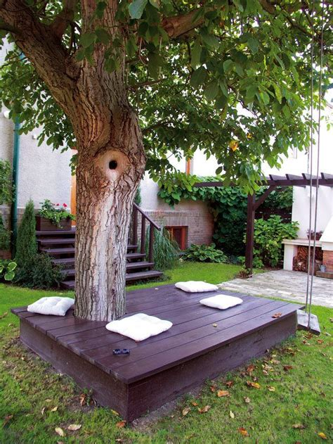 bench around tree trunk 25 awesome outside seating ideas you can make with