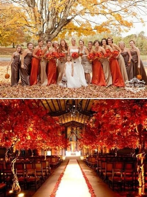 wedding fall colors 49 wedding themes for the best day of your