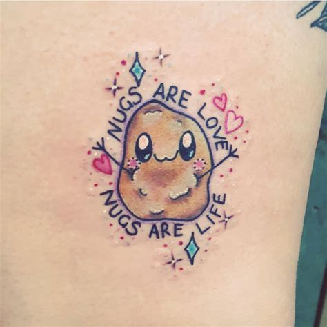 chicken nugget tattoo top 10 chicken nugget tattoos littered with garbage