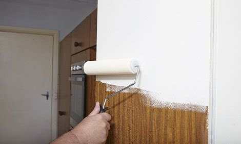 Can You Paint Veneer Cabinets by How To Paint Laminate Kitchen Cabinets Bunnings Warehouse