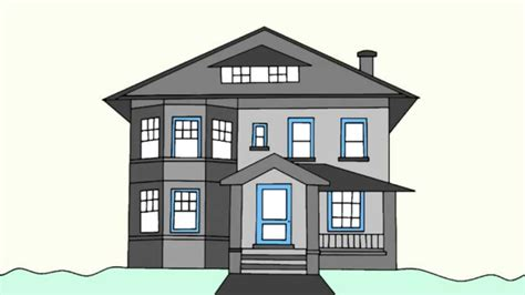 how to draw a house 2 awesome and easy way for everyone simple house drawing drawing art gallery