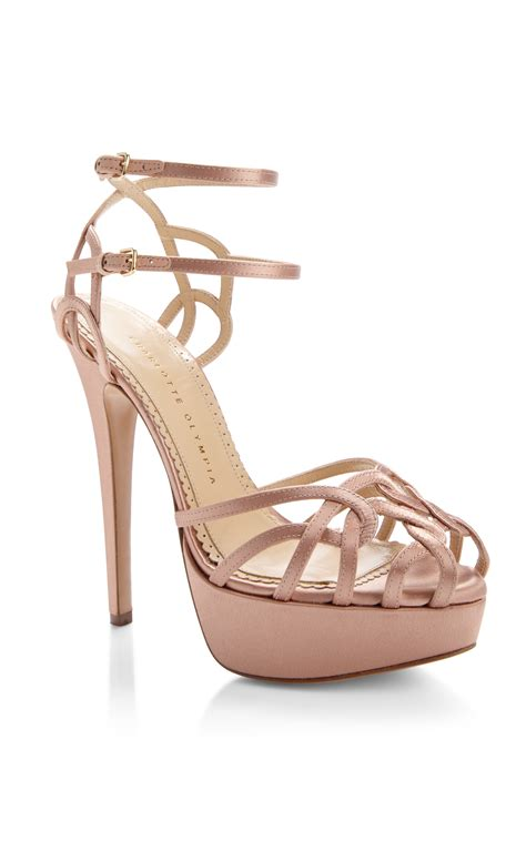 blush sandals olympia ursula strappy sandal in pink blush lyst