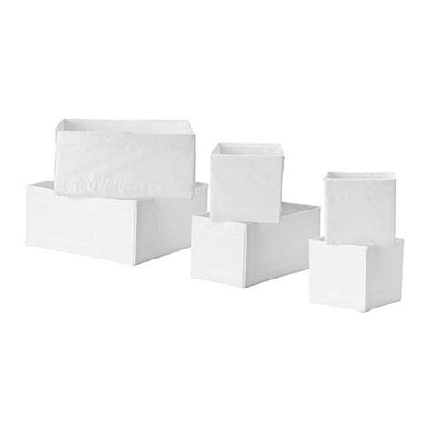 ikea clothes drawer organiser skubb box set of 6 white ikea