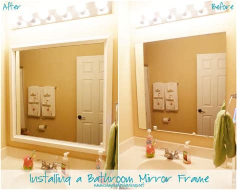 how to install a bathroom mirror installing bathroom mirror frames