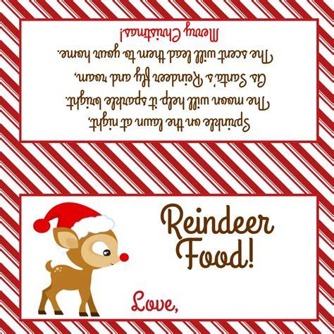 free printable reindeer food bag topper reindeer food treat bag topper sweetdesignsbyregan