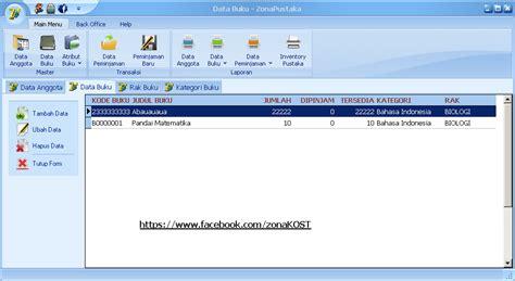 desain database aplikasi perpustakaan bakalbuahsoftware download gratis aplikasi perpustakaan