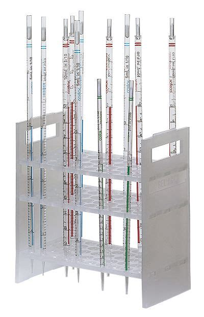 pipette support rack holds up to 50 pipettes up to 16 mm