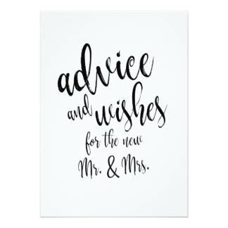 date advice card template wedding advice cards zazzle
