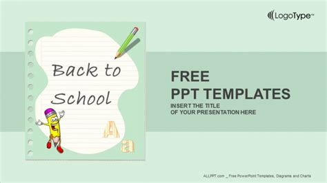 back to school powerpoint template free popular powerpoint templates design