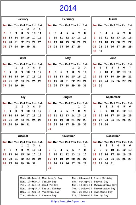 Printable Calendar With Holidays 2014 2014 Calendar Printable Calendar 2014 Calendar In