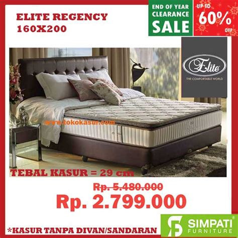 Kasur Bed By Elite elite bed kasur elite harga elite matras