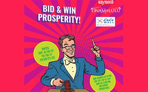 bid and win bid and win prosperity at lulu mall