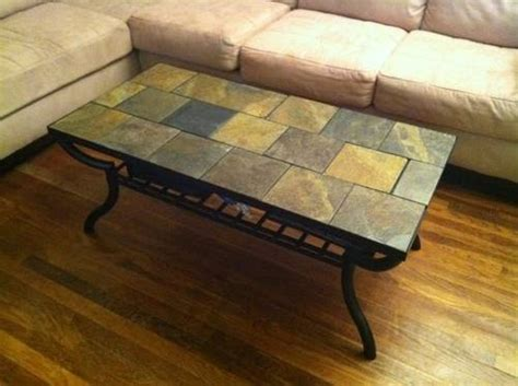 slate tile coffee table 10 images about wrought iron tile top table on