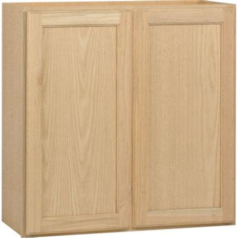 home depot kitchen cabinets unfinished 30x30x12 in wall cabinet in unfinished oak w3030ohd the