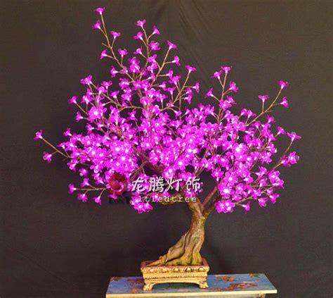light up bonsai tree purple led cherry blossom tree light buy led blossom