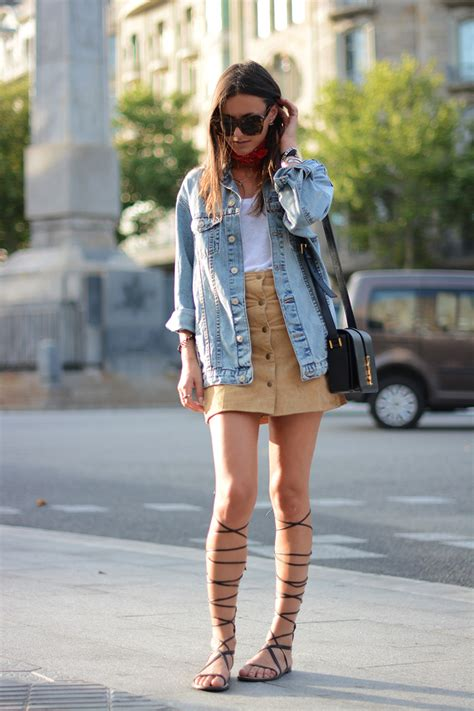 5 stylish ways to wear denim jackets with skirts glam radar
