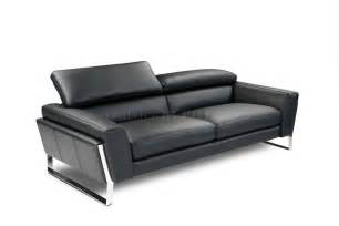 black modern sofa black top grain italian leather modern sofa w optional