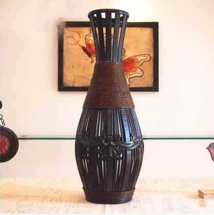 Kingart Antique Bamboo Vase Large Floor Vase Living Room