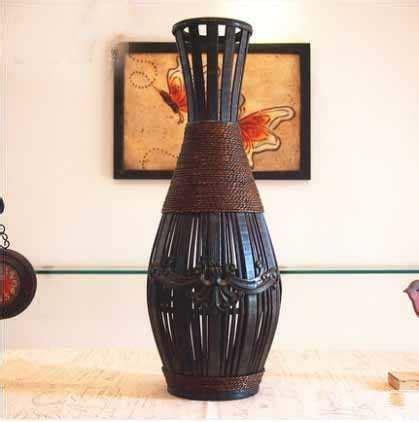 Kingart Antique Bamboo Vase Large Floor Vase Living Room