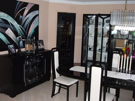 Furniture Interior by Awesome Black Lacquer Furniture For Dining Room With