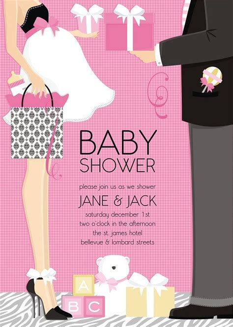 couples baby shower invites ideas