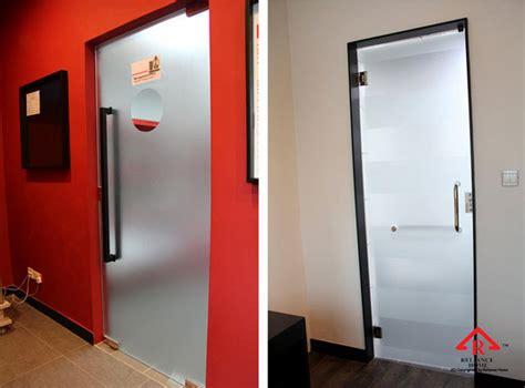 swing door installation vvp dorma glass swing door reliance homereliance home