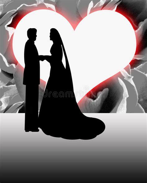 silhouette bride  groom heart shaped moon royalty