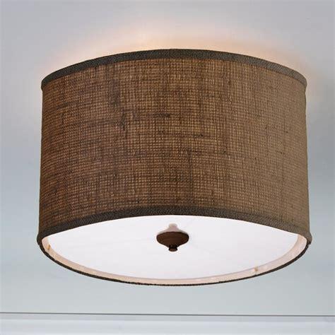 Drum Light Shades For The Ceiling Burlap Drum Shade Ceiling Light 3 Colors L Shades By Shades Of Light