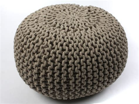 knitted gumball ottoman pouf ottoman footstool poof knitted gumball ball foot rest