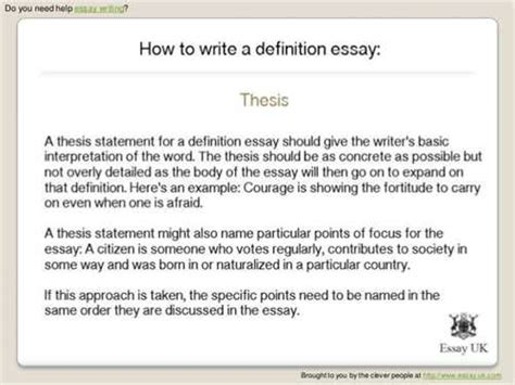 Exle Of A Definition Essay by Definition Essay On College Essays 1048 Words