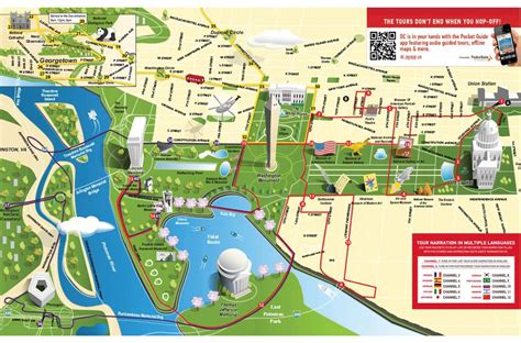 map of dc monuments hop on hop tour washington dc city sightseeing 169