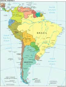 south americas map the world factbook