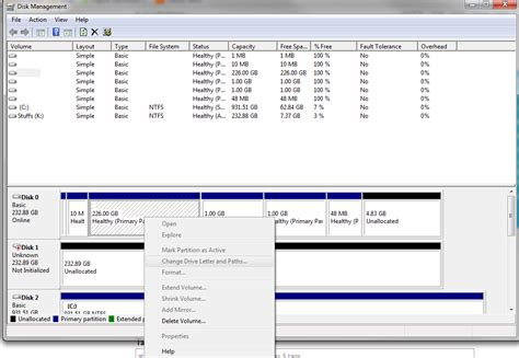format hard drive greyed out windows 7 drive and all partitions detected in disk
