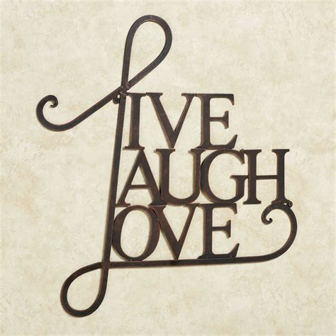 live laugh love wall decor live laugh love metal word wall art