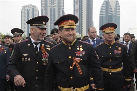 russian military uniforms ally of chechen strongman marries teenaged second wife
