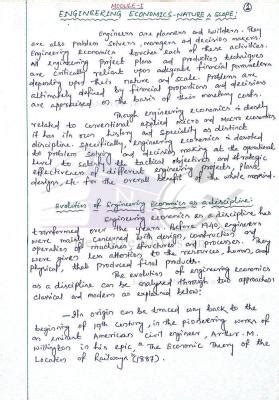 Economics Engineering 1 engineering economics ee notes pdf free