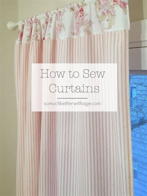 How To Sew Pink Ticking Curtains Nursery Curtains Diy Nursery Curtains