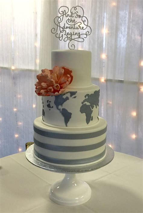 travel theme wedding cake by the cake zone amazing wedding cakes wedding cakes themed