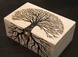 Holiday Wood Crafts - cool wood burning carving project ideas 2017