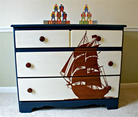 pirate bedroom furniture pirate ship stencil blue dresser kids bedroom furniture boy