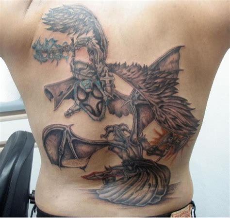 japanese tattoo good vs evil my first tatt good vs evil tattoo picture at