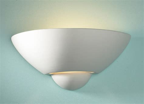 vector unglazed wall uplighter paintable wall light vector